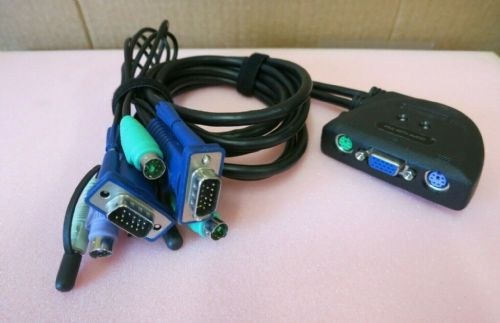 IView 172172 2 Port KVM Switch With Built-In KVM And Audio Cables